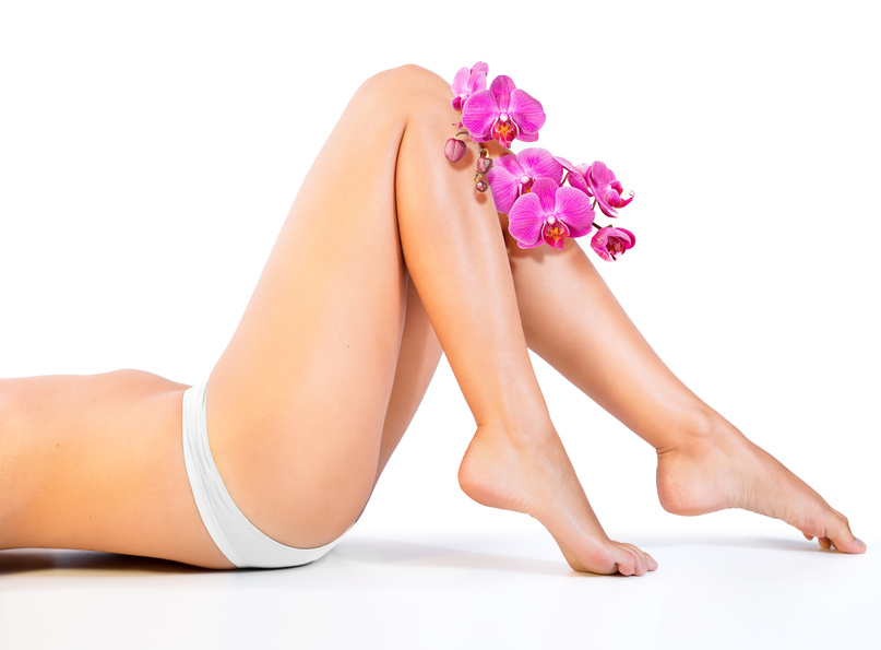 beautiful legs and orchids